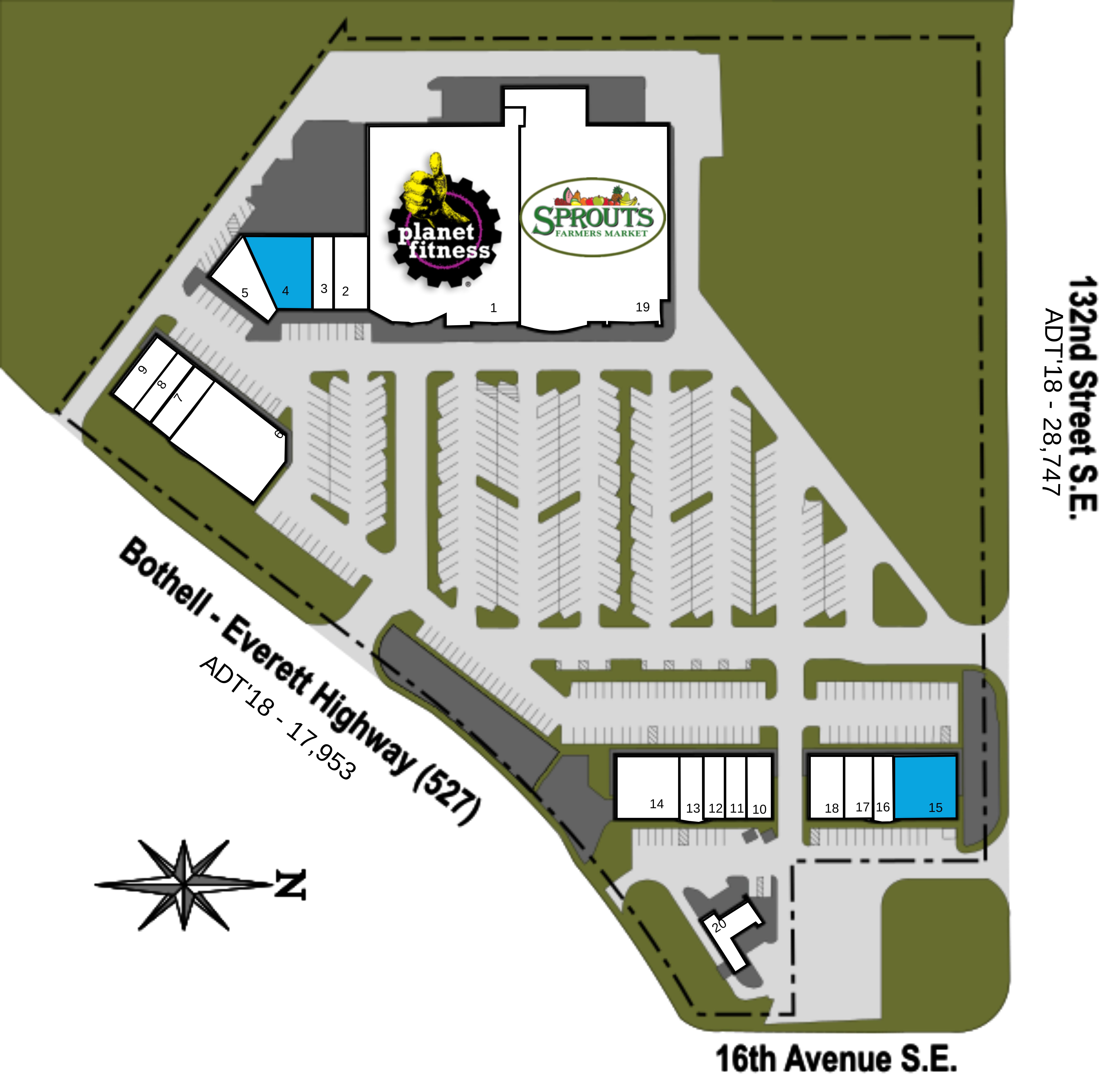 Mill Creek WA: Gateway S.C. - Retail Space - Kimco Realty