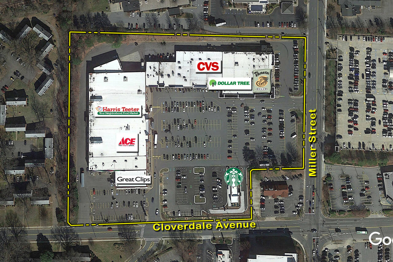 Winston-Salem NC: Cloverdale Plaza - Retail Space - Kimco Realty