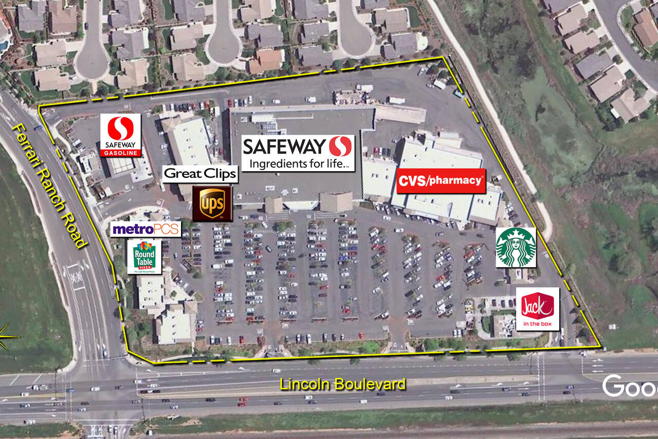lincoln ca lincoln hills town center retail space kimco realty lincoln hills town center aerial