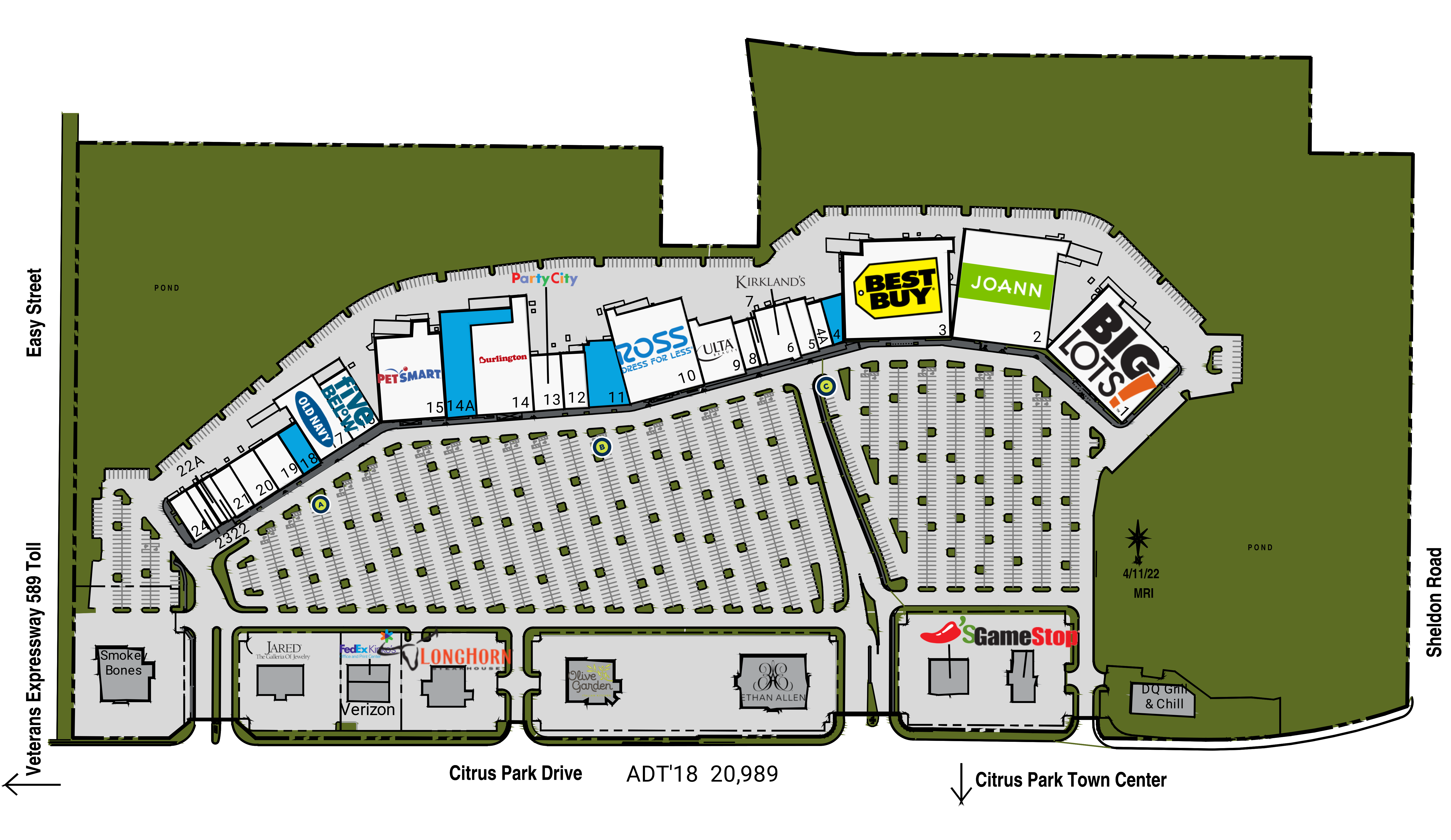 Citrus Park Mall Map Tampa FL: The Plaza at Citrus Park   Retail Space   Kimco Realty