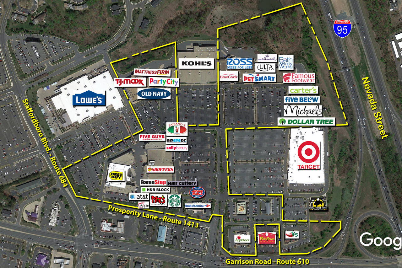 Stafford VA: Stafford Marketplace - Retail Space - Kimco Realty on map of frederick md area, map of virginia, map of washington dc area, map of stafford texas area, map of stafford uk area,