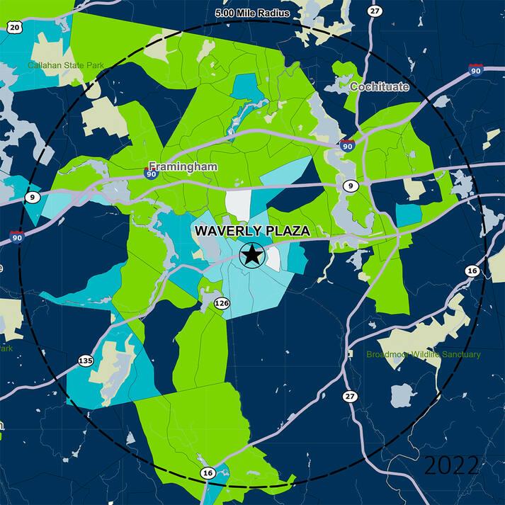 Framingham MA: Waverly Plaza - Retail Space - Kimco Realty