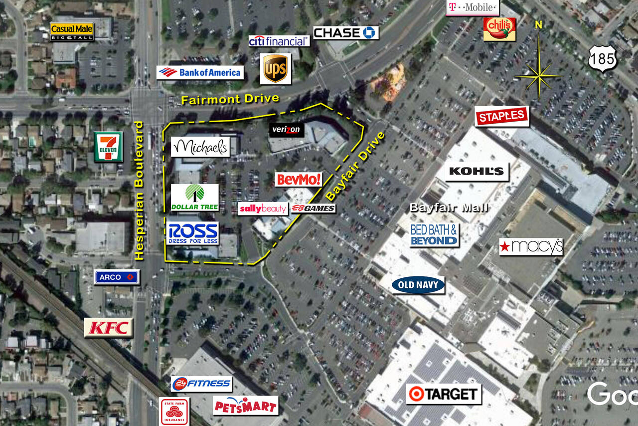 San Leandro Ca Fashion Faire Place Retail Space Kimco Realty