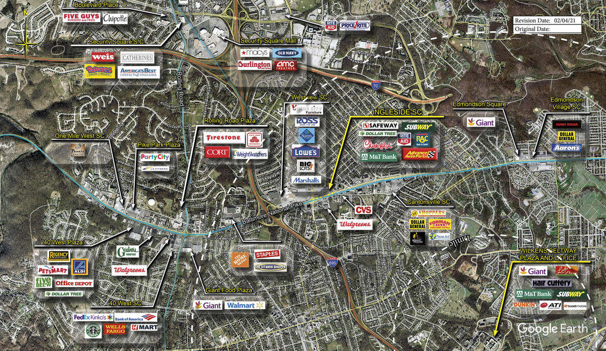 Baltimore Md Ingleside S C Retail Space Kimco Realty